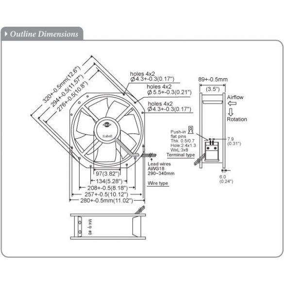 M280GAN11-3-4 Sinwan Metal Impeller