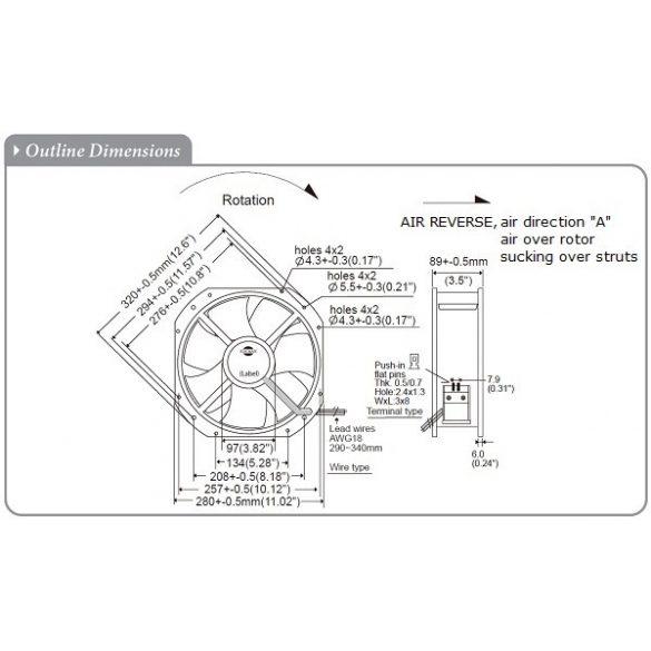 M280GAN22-3-4A Dual Speed Sinwan Metal Impeller