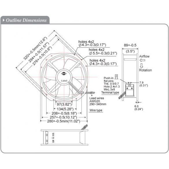 S280RAN-22-3 Plastic Impeller