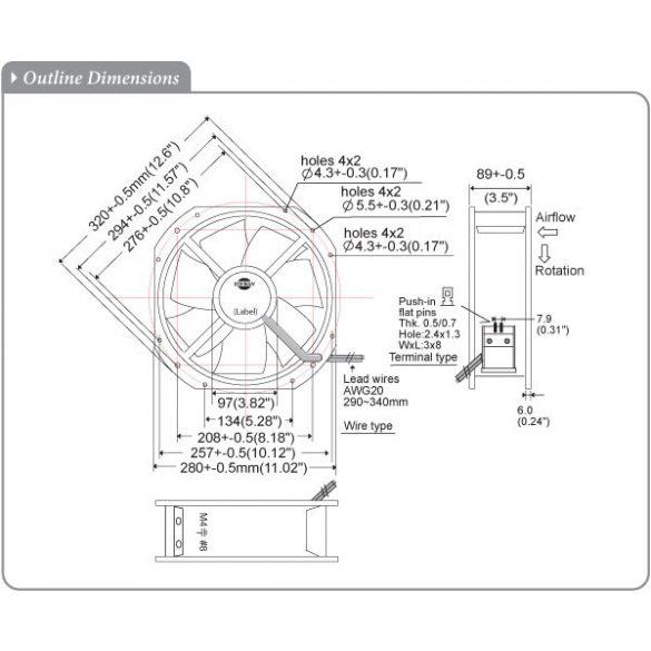 S280RAP-11-3 Plastic Impeller