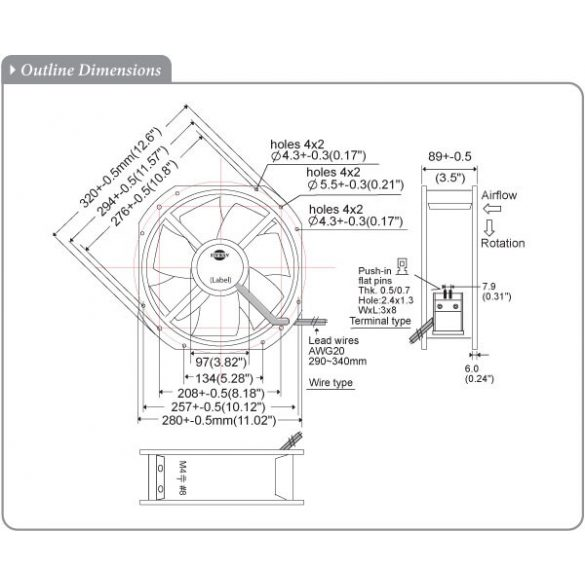 S280RAP-22-2 Plastic Impeller
