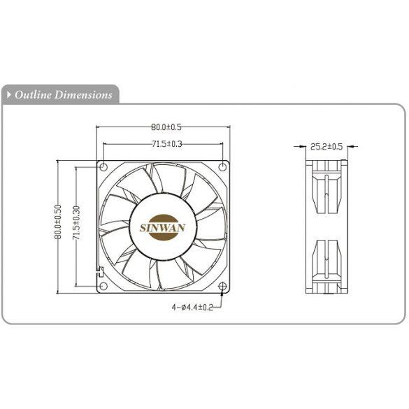SE825PT-FR-1 Sinwan EC Motor